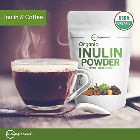 Inulin powder and coffee