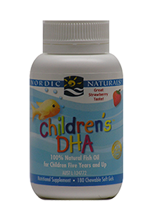 Nordic Naturals—Children's DHA Strawberry Chewable Mini 180 Softgels