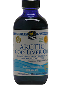 Arctic Cod Liver Oil Liquid Orange 237ml Twin Pack EXPRESS -Nordic Naturals