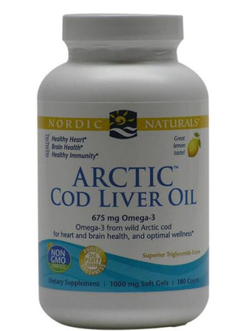Arctic Cod Liver Oil Lemon Softgels Nordic Naturals