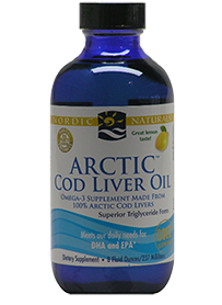 Arctic Cod Liver Oil Liquid Lemon 237ml-Nordic Naturals