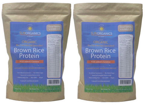 Organic bio-fermented, sprouted Brown Rice Protein Powder