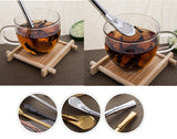 4 PCS 18/8 Stainless Steel Drinking Straws Yerba Mate Bombilla Straws Free Cleaning Brush Include