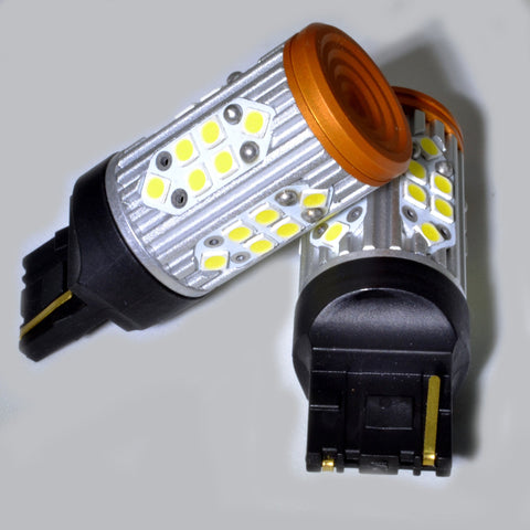 Kraftig LED Ryggelys pærer 42w for 7440 / 7443 W21W (Sett)