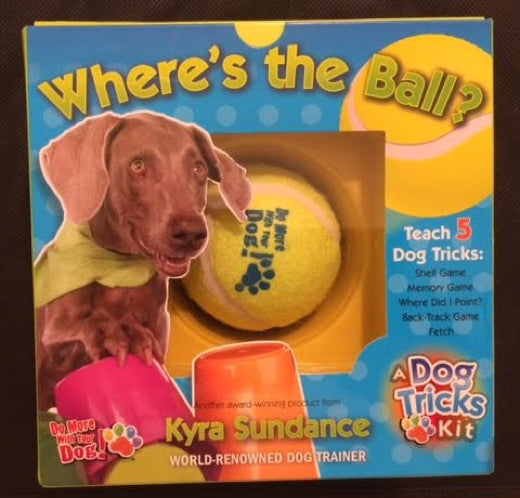 Where's the Ball?  A Dog Tricks Kit : Kyra Sundance : Boxed Book and Toy Kit