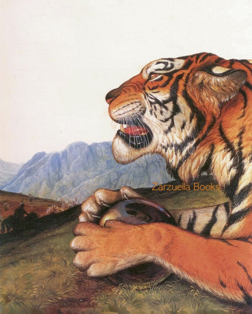 Walton Ford Illustration #83 Double Matted, Ready to Frame: Tiger