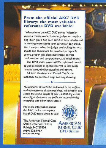 The AKC Breed DVD :  American Foxhound - New Sealed