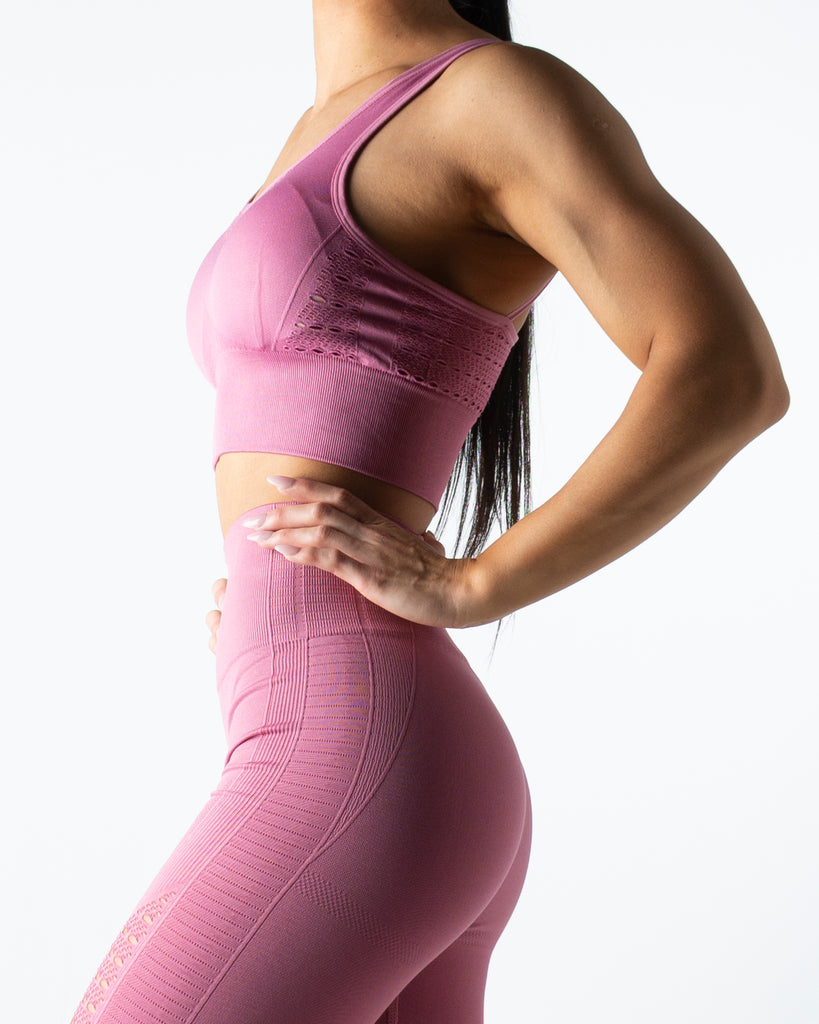 Seamless Pink Crop Top - MC Activewear and Waist Training