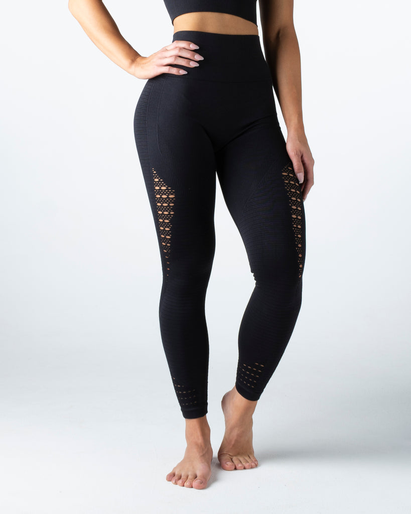 Seamless Black Leggings - MC Activewear and Waist Training