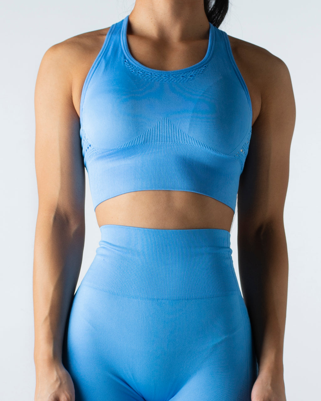 Seamless Blue Crop Top - MC Activewear and Waist Training