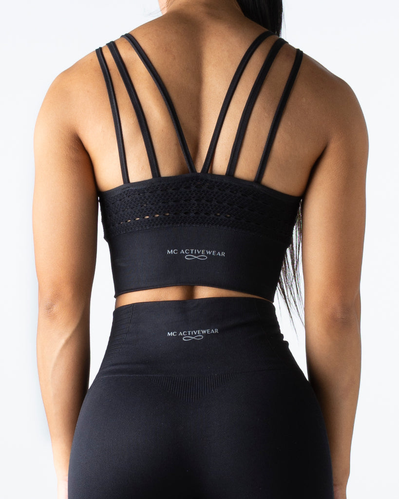 Seamless Black Crop Top - MC Activewear and Waist Training