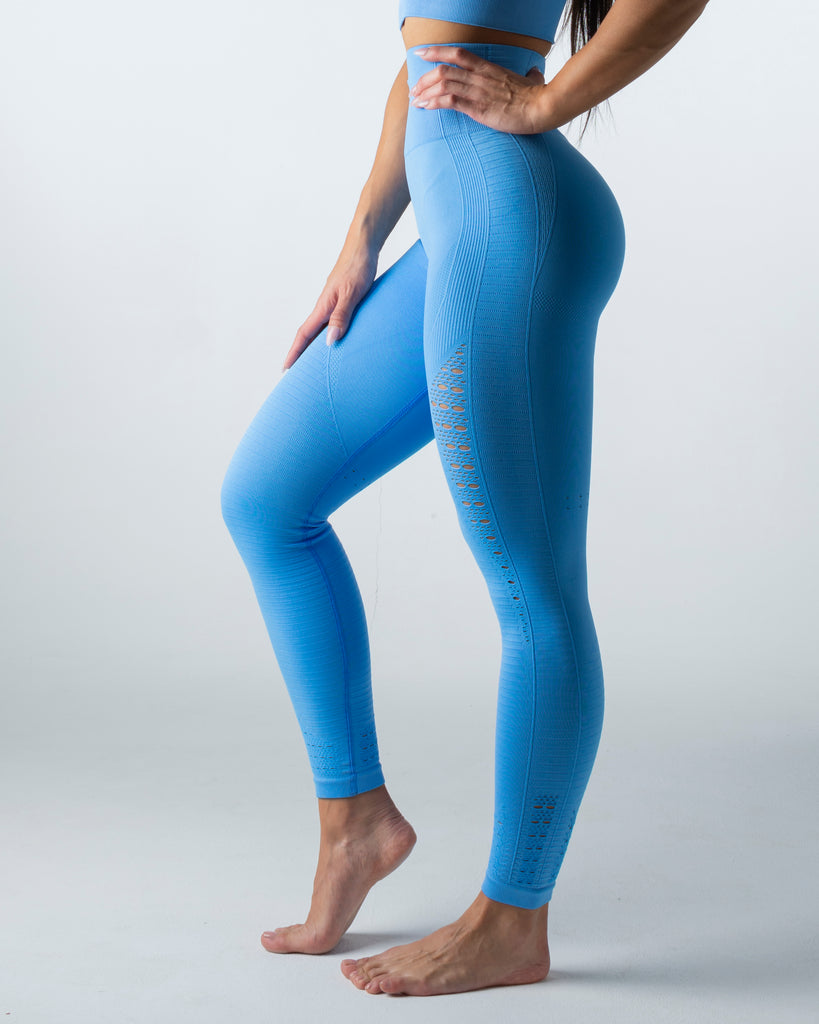 Seamless Blue Leggings - MC Activewear and Waist Training