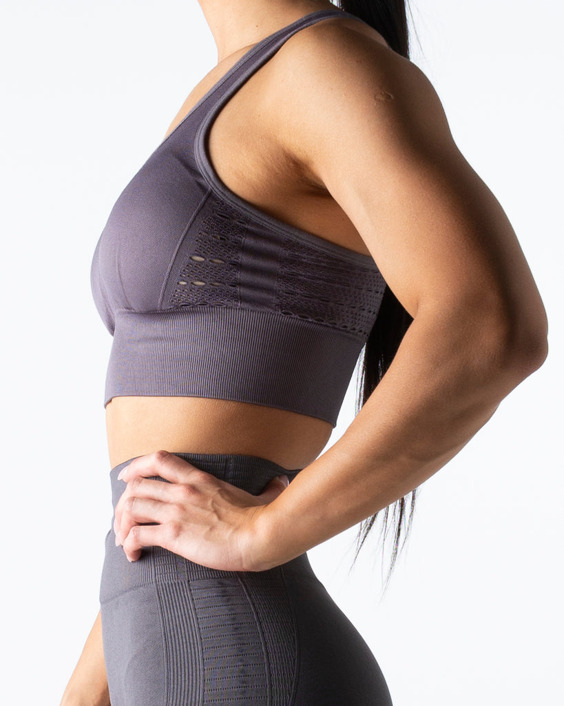 Seamless Grey Crop Top - MC Activewear and Waist Training