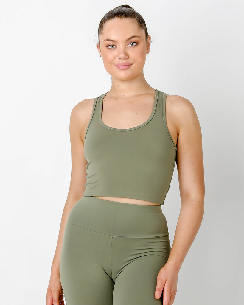 Olive  Gia Racer - MC Activewear and Waist Training