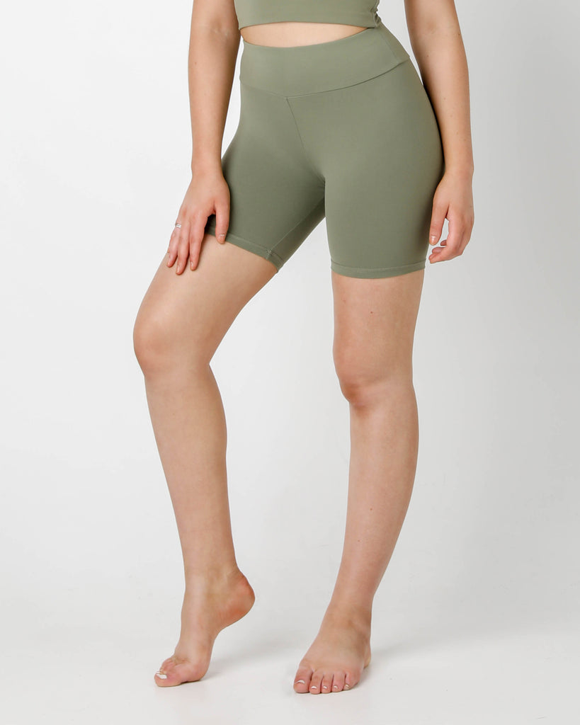 Olive Bike Shorts - MC Activewear and Waist Training