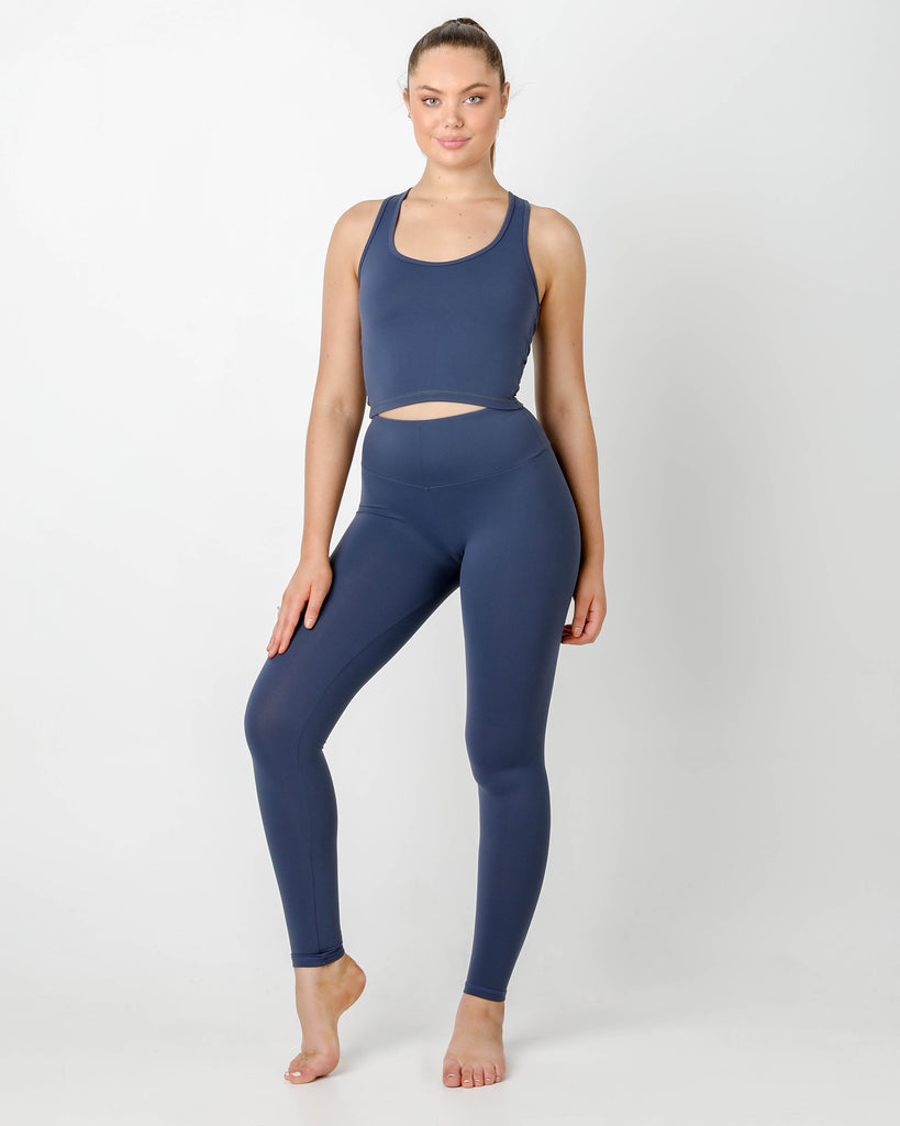 ROYAL BLUE GIA RACER TOP - MC Activewear and Waist Training