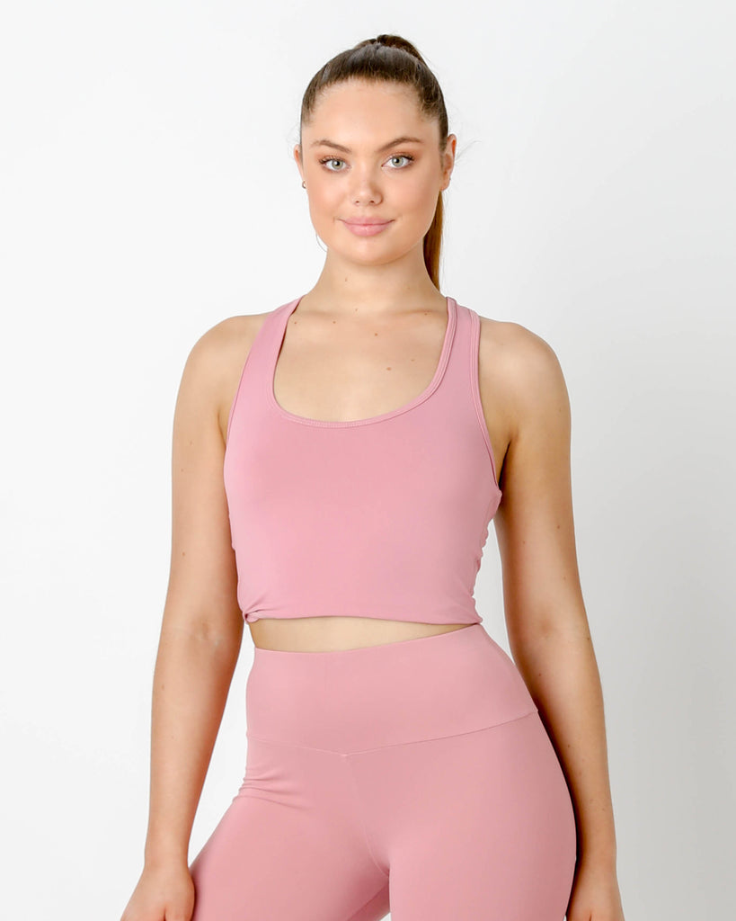 Rouge Gia Crop Racer Tank - MC Activewear and Waist Training