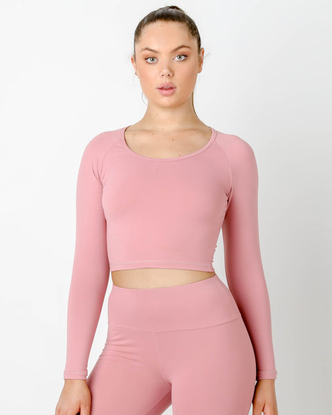 ROUGE GT CROPPED LONG SLEEVE TOP