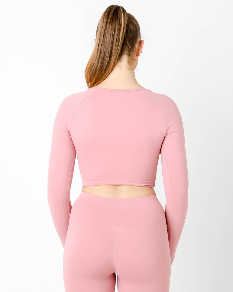 ROUGE GT CROPPED LONG SLEEVE TOP - MC Activewear and Waist Training