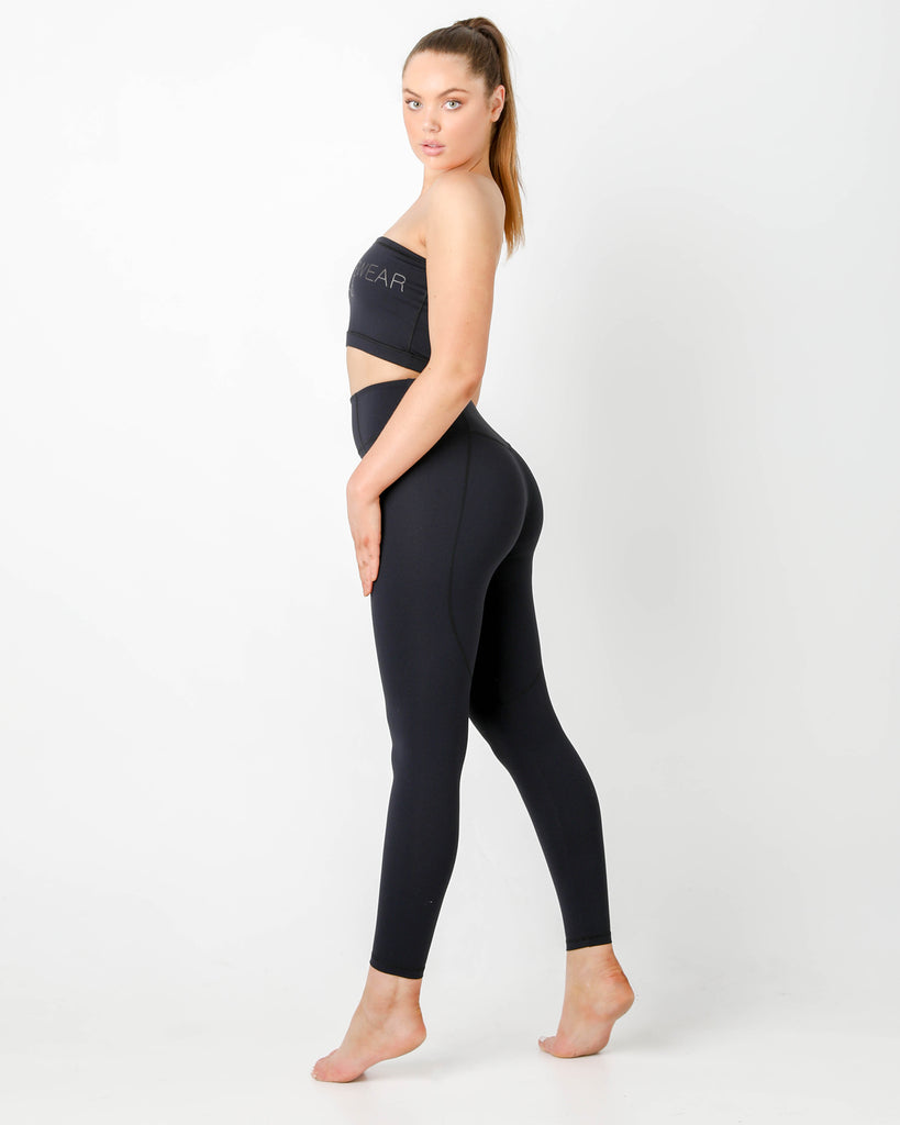 Black Luna Leggings - MC Activewear and Waist Training