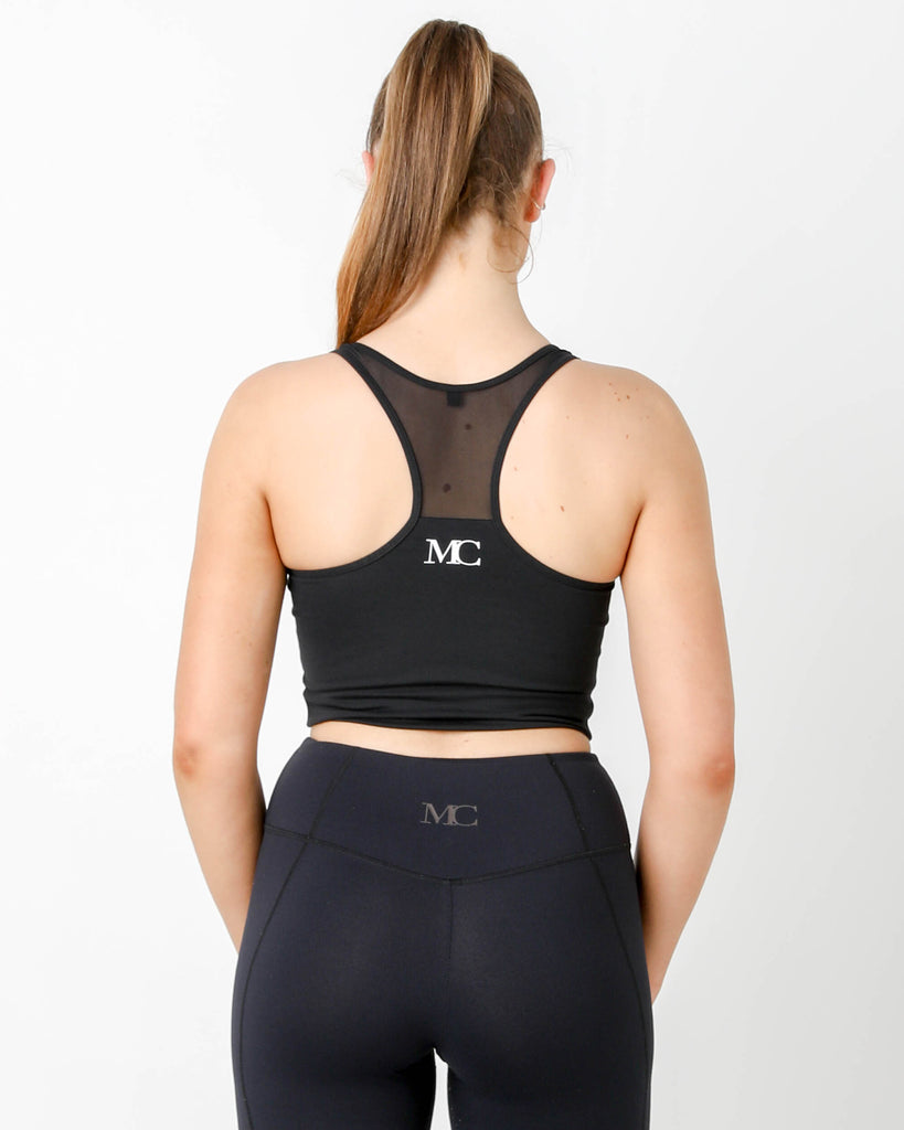 Black Mesh Racer Tank - MC Activewear and Waist Training