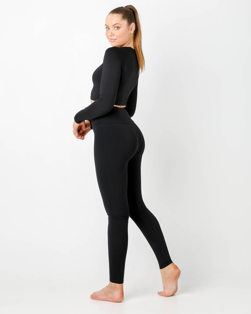 GT  BLACK Long Sleeve Top - MC Activewear and Waist Training