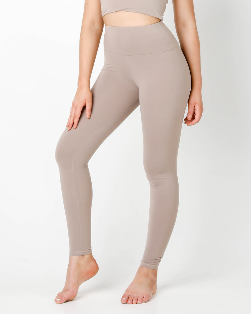Latte Plush Highwaisted Leggings - MC Activewear and Waist Training