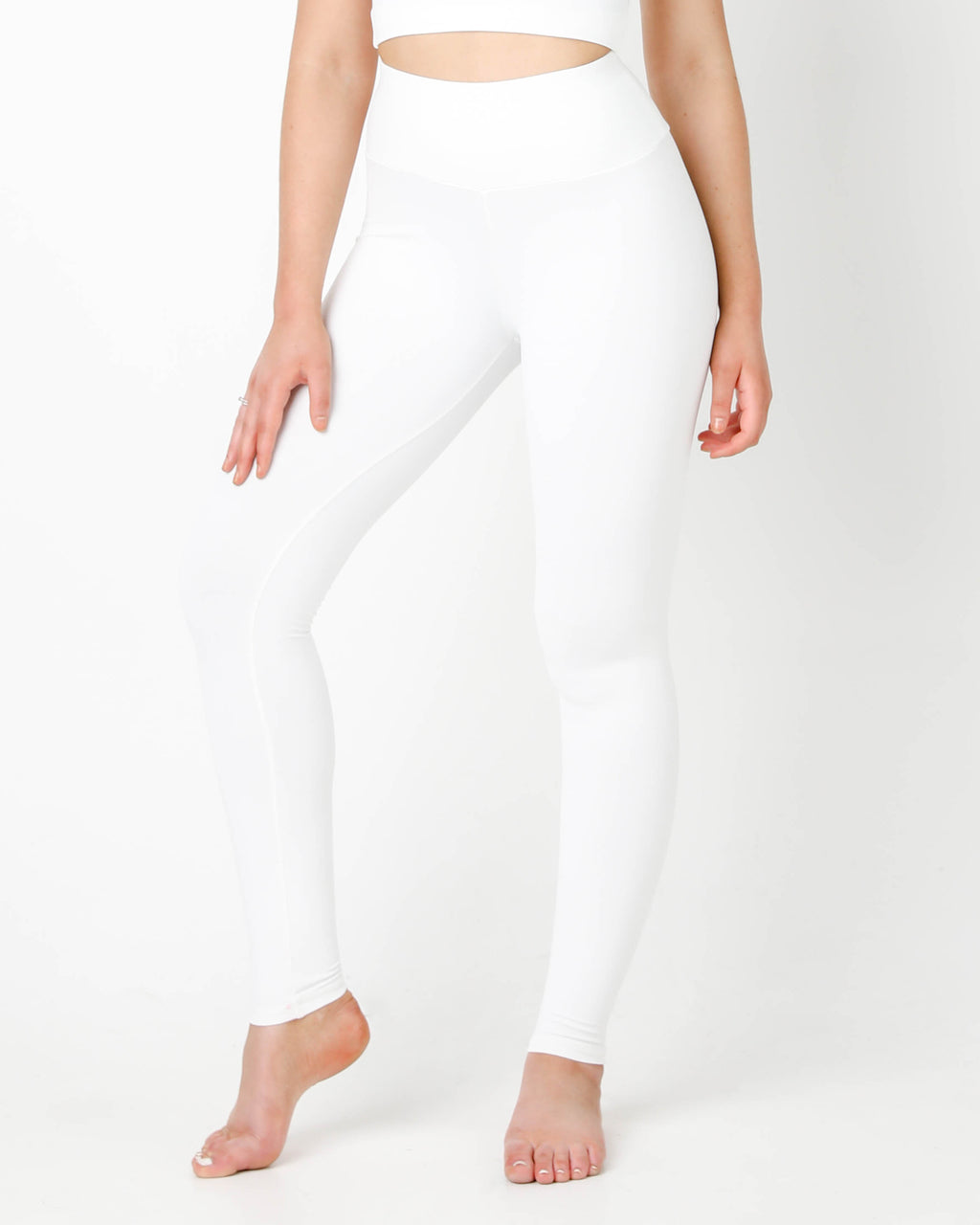 White Plush High Waisted Leggings
