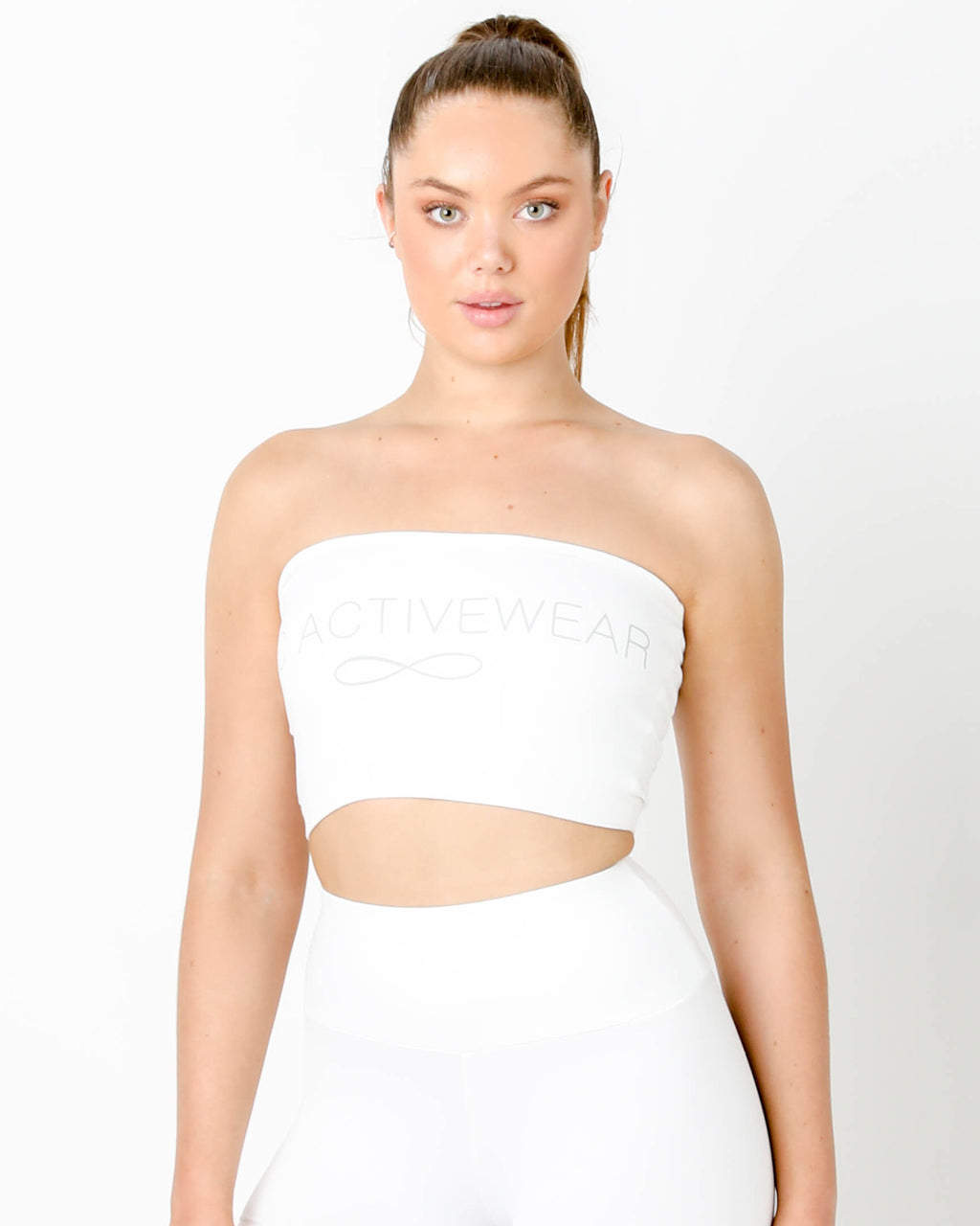 White Tube Top - MC Activewear and Waist Training
