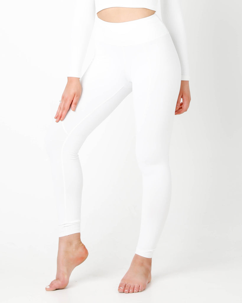 White Luna Leggings - MC Activewear and Waist Training
