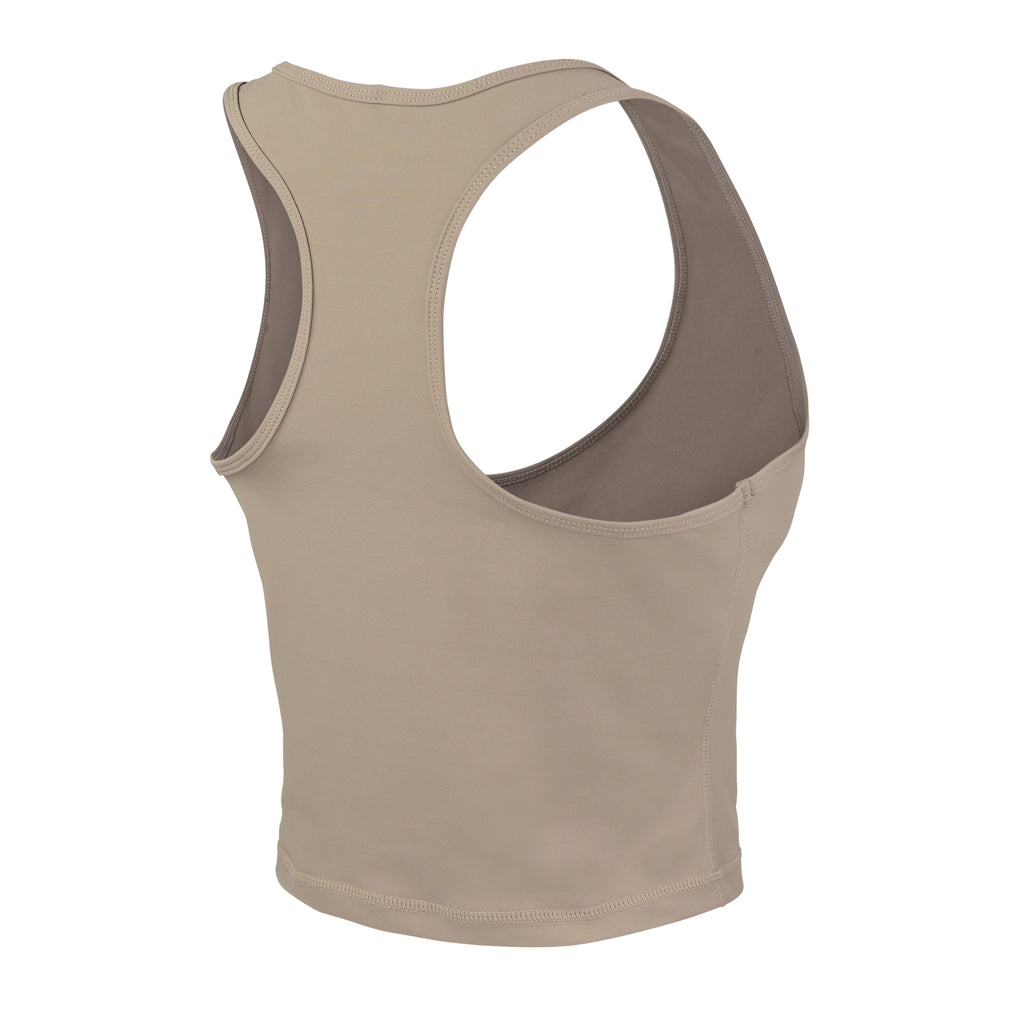 Latte Gia Crop Racer Tank - MC Activewear and Waist Training