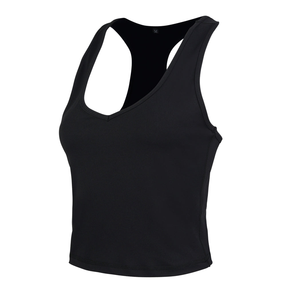 Black Gia V Short Tank - MC Activewear and Waist Training