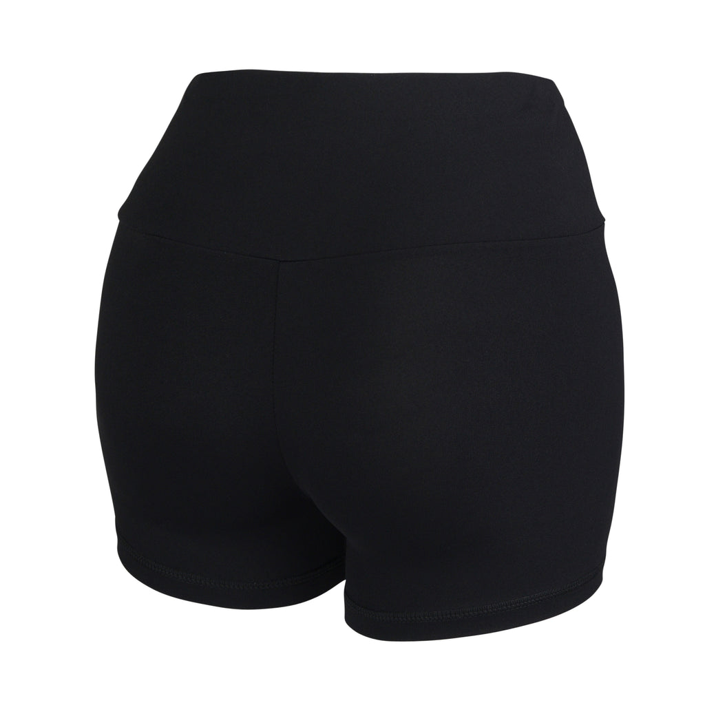 Black Plush Highwaisted Shorts - MC Activewear and Waist Training