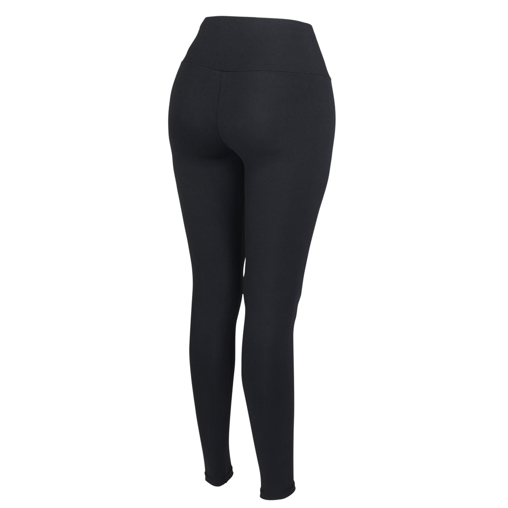 Black Plush Highwaisted Leggings - MC Activewear and Waist Training