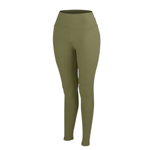 OLIVE PLUSH HIGH WAIST LEGGINGS