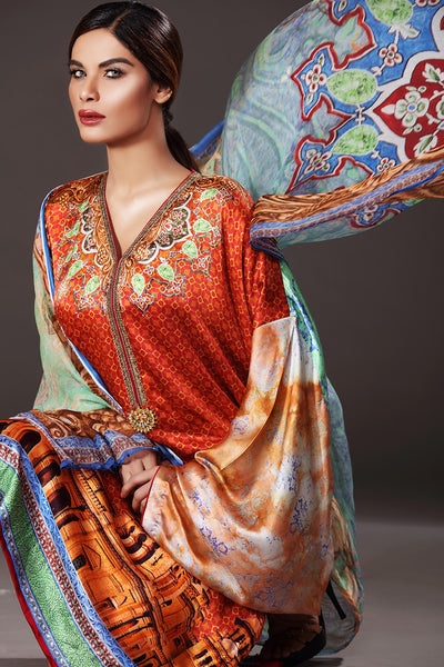 Gul Ahmed Lamis Silk - DGS 49 - Exotic Woman Enterprise - 1