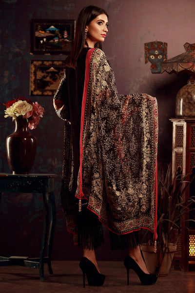 Sana Safinaz Winter BLACK and RED