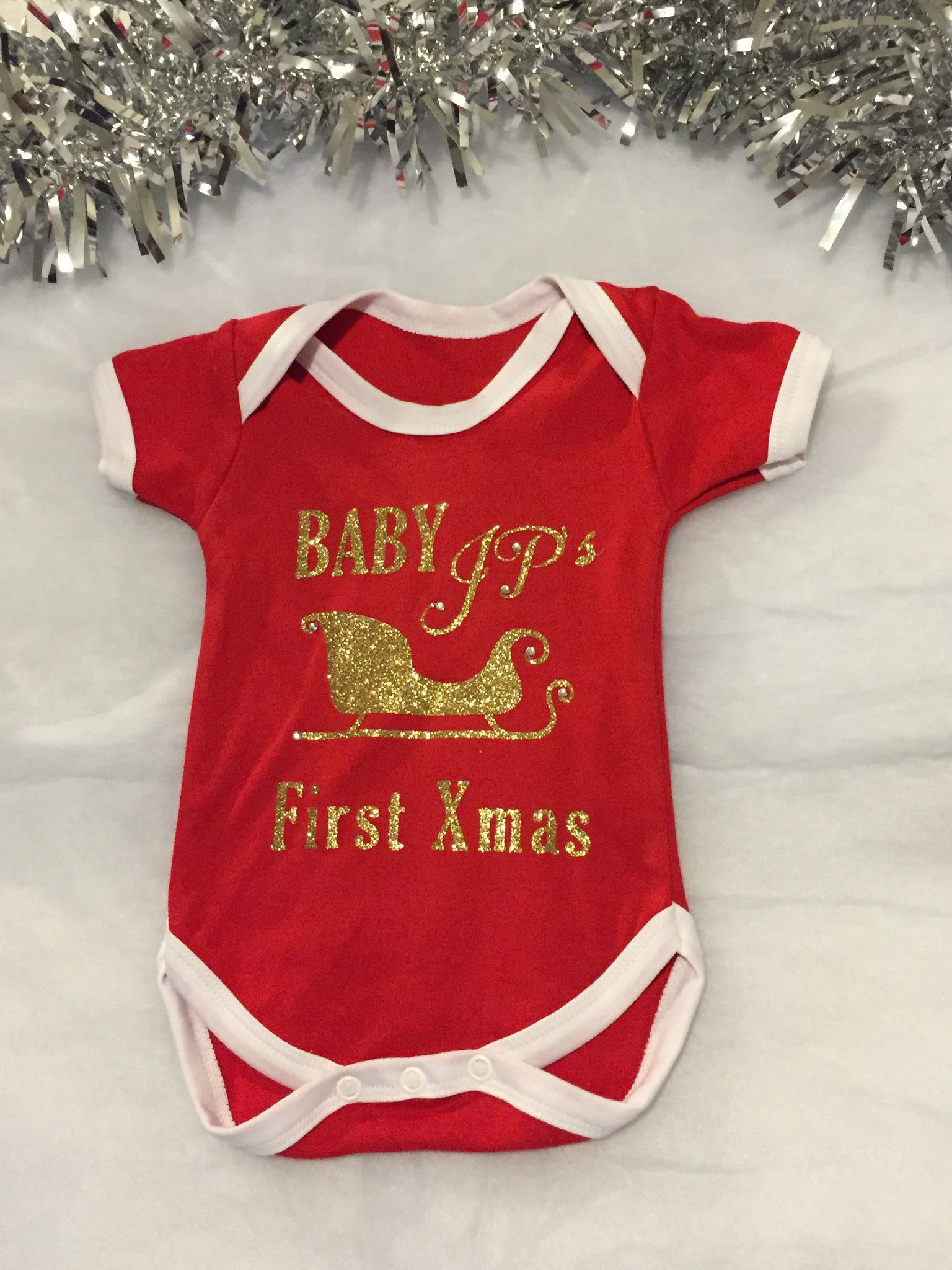 Christmas Vest.Baby Baby Christmas Vest Personalised