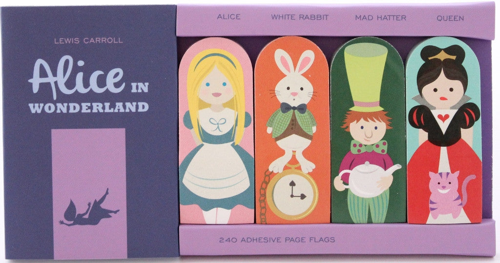 Alice in Wonderland Adhesive Flags - The Little Bookish Gift Co