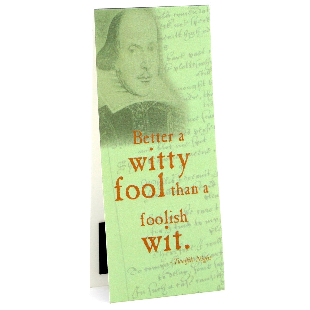'Better A Witty Fool...' Shakespeare Quote Bookmark - The Little Bookish Gift Co - 1