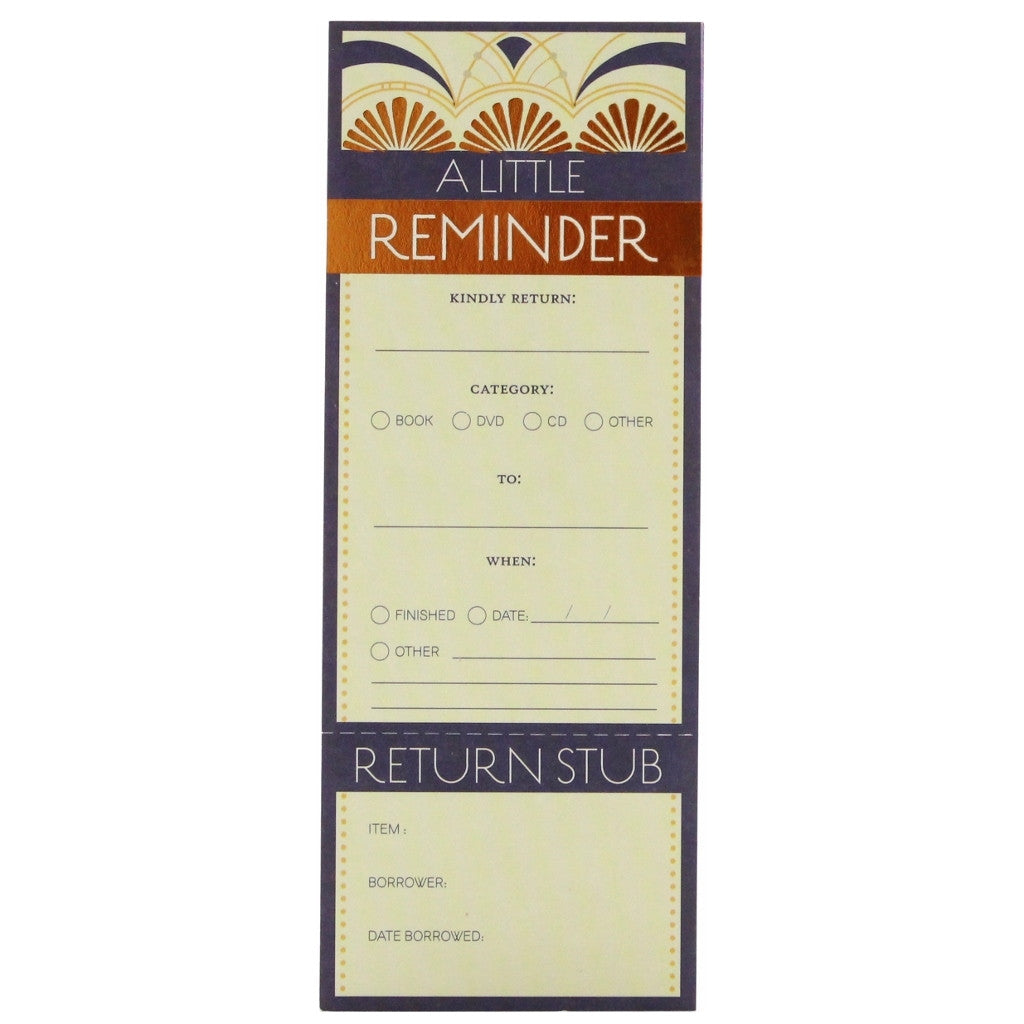 Borrower's Reminder - Carriage House - The Little Bookish Gift Co