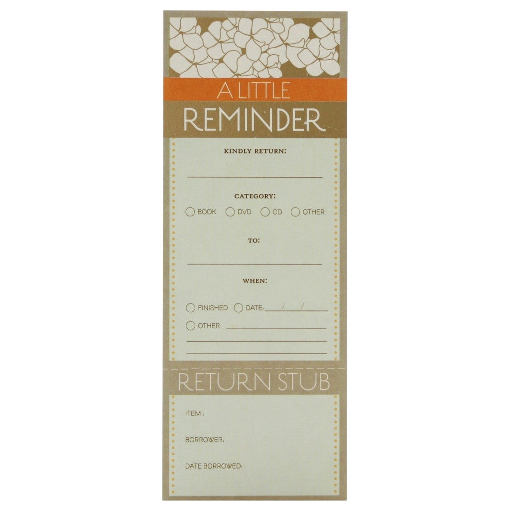Borrower's Reminder - Magnolia Pavilion - The Little Bookish Gift Co