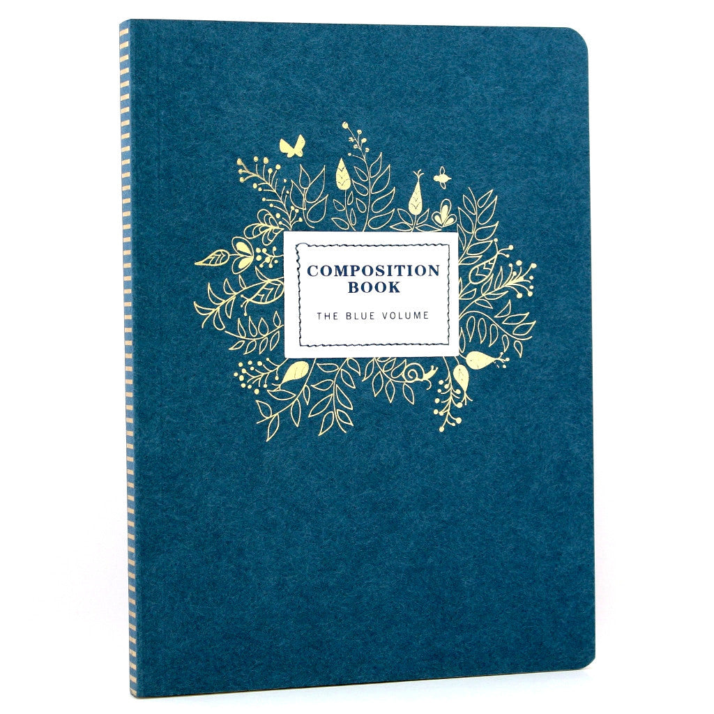 Composition Notebook - Indigo - The Little Bookish Gift Co