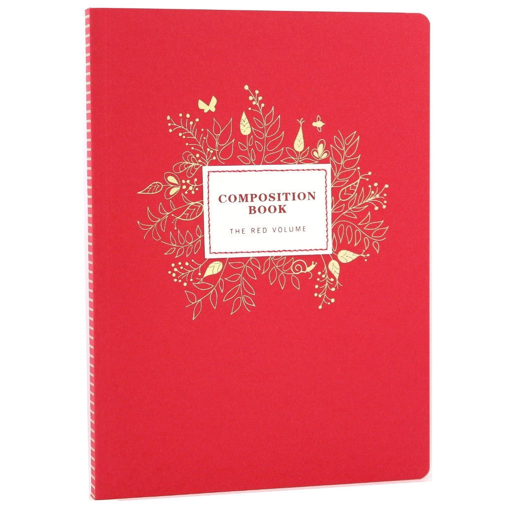 Composition Notebook - Crimson - The Little Bookish Gift Co