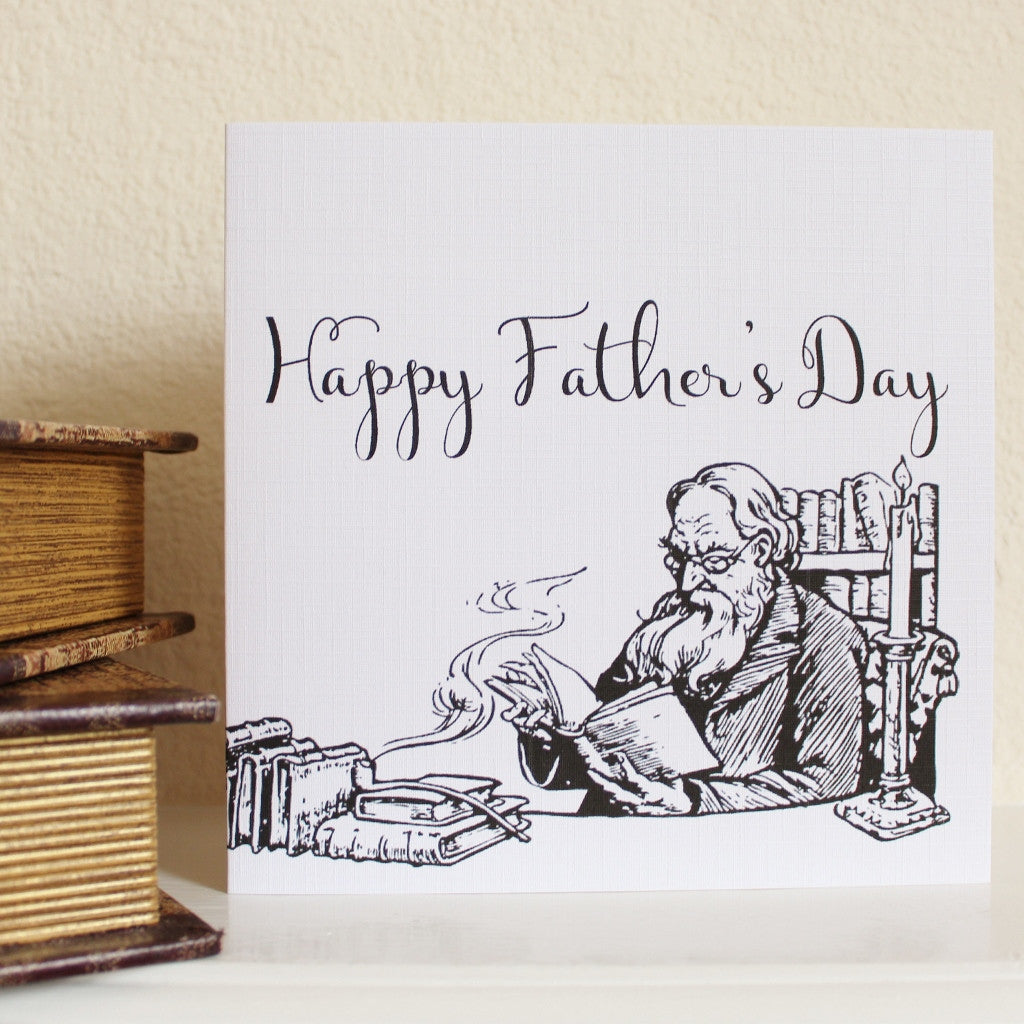 'Father's Day' Greetings Card - The Little Bookish Gift Co - 1