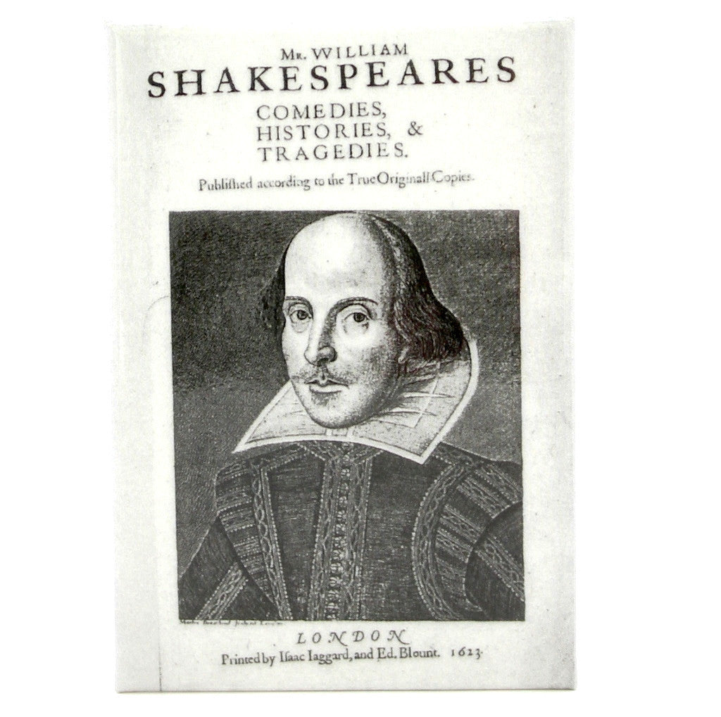 Shakespeare's First Folio Fridge Magnet - The Little Bookish Gift Co