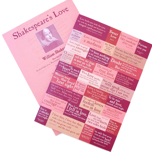 A5 Lined Exercise Book - Shakespeare's Love - The Little Bookish Gift Co - 3