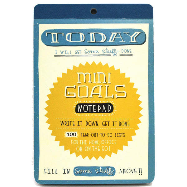 Mini Goals Notepad by Mary Kate McDevitt - The Little Bookish Gift Co - 1