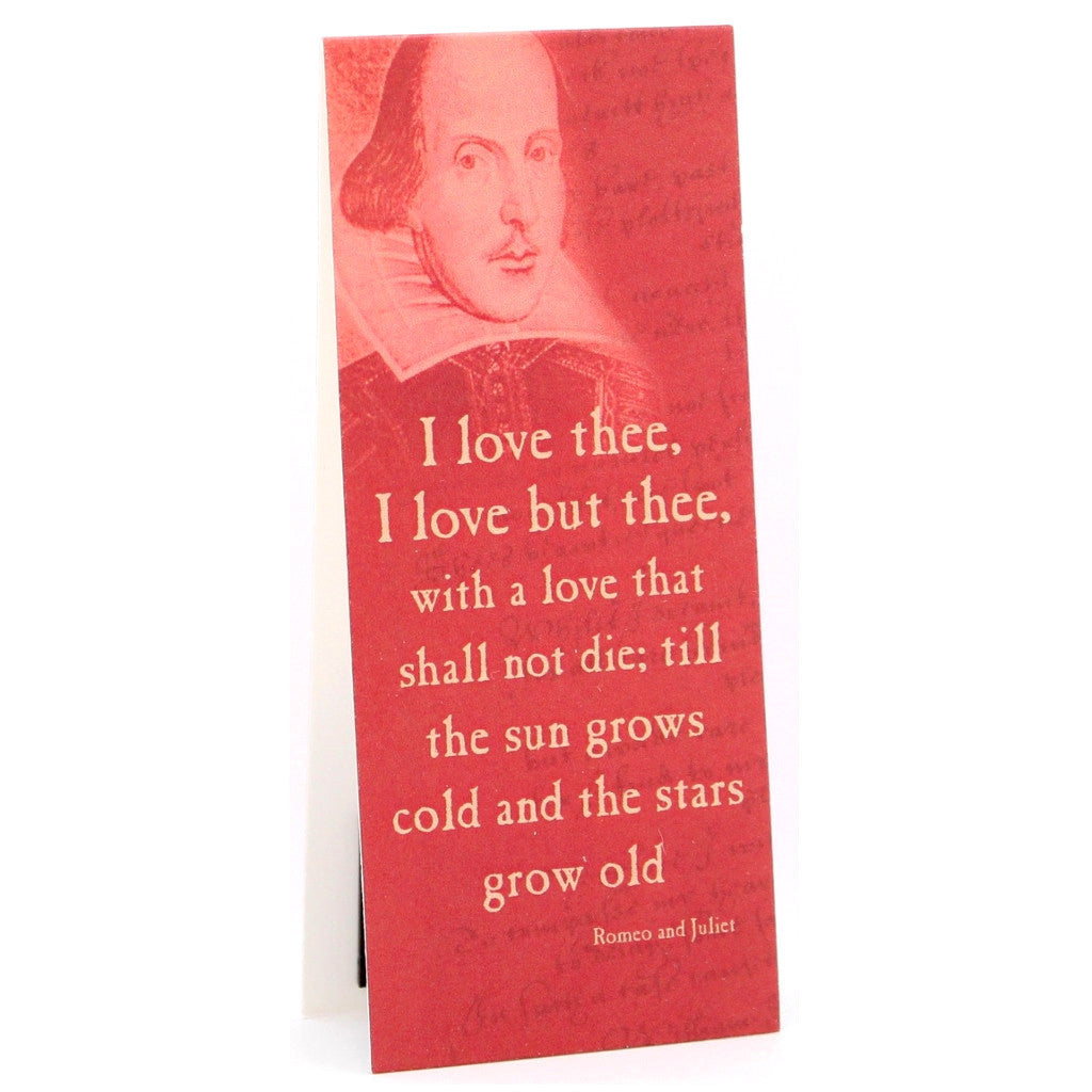 'I Love Thee...' Shakespeare Quote Bookmark - The Little Bookish Gift Co - 1