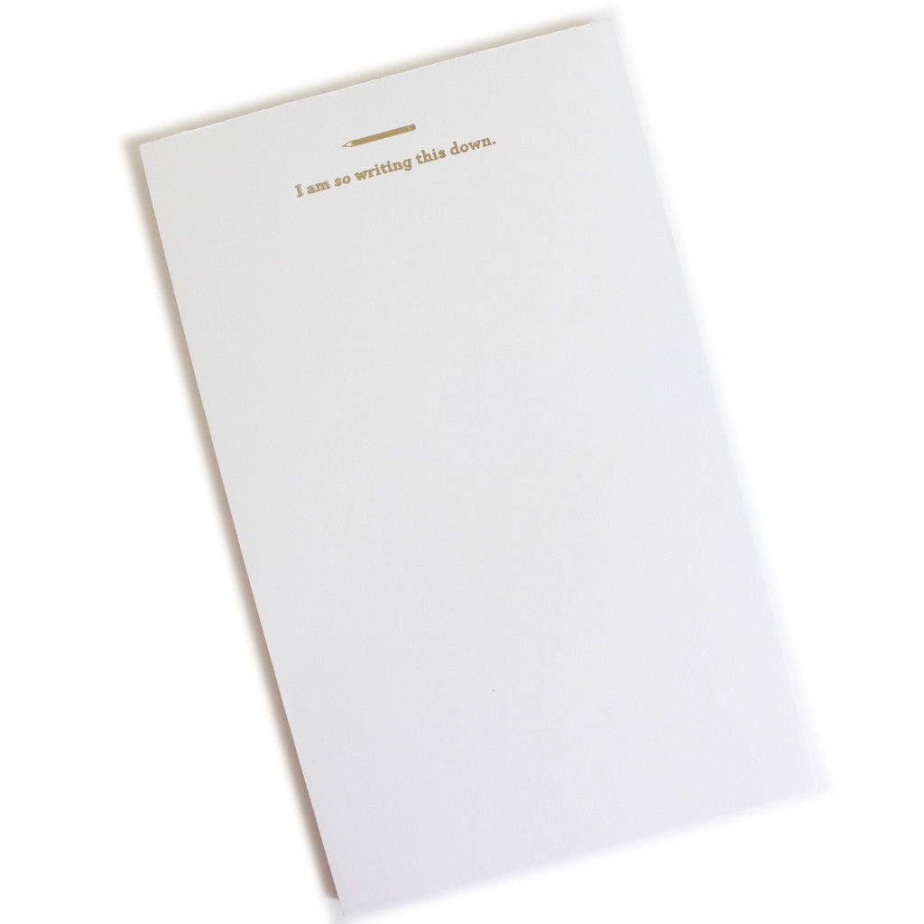 Writing This Down Notepad - The Little Bookish Gift Co